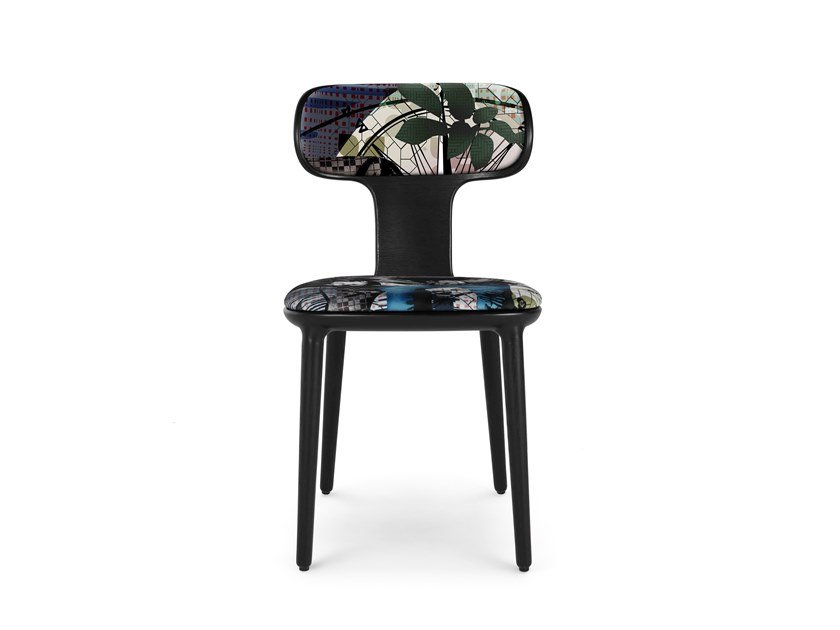 Upholstered fabric chair OPERETTE by ROCHE BOBOIS