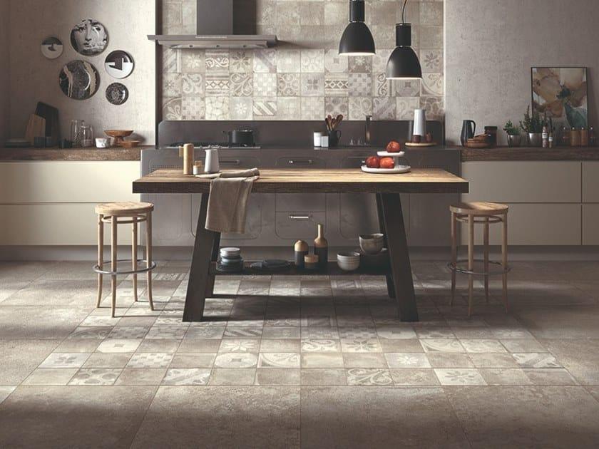 Wand- und Bodenbelag aus Feinsteinzeug mit Beton-Effekt OPIFICIO 22/A by Panaria Ceramica