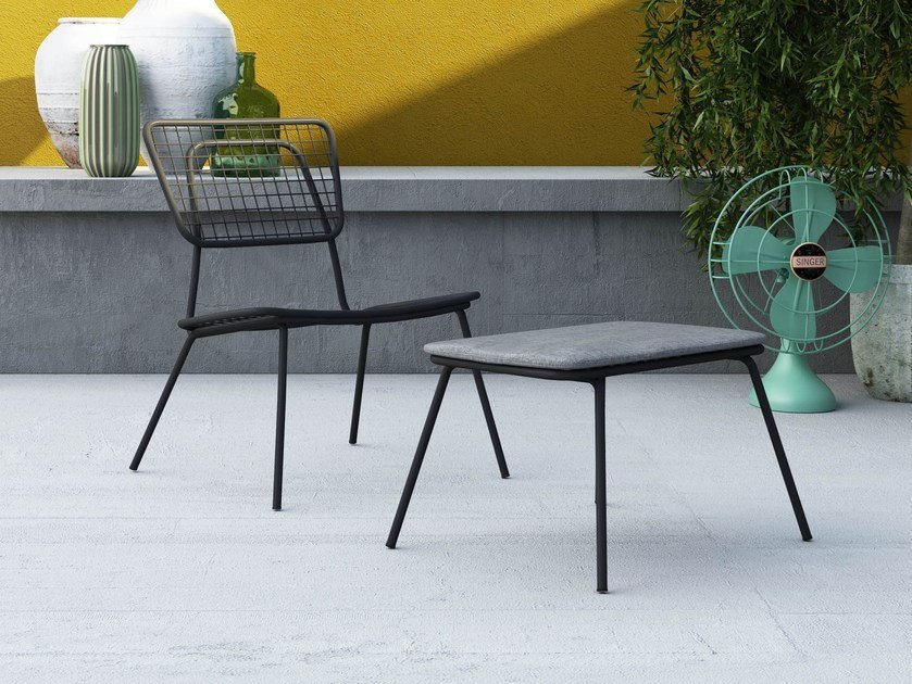 Stackable metal garden armchair with armrests OPLÀ L by Imperial Line