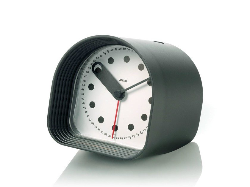 Table-top ABS clock OPTIC by Alessi