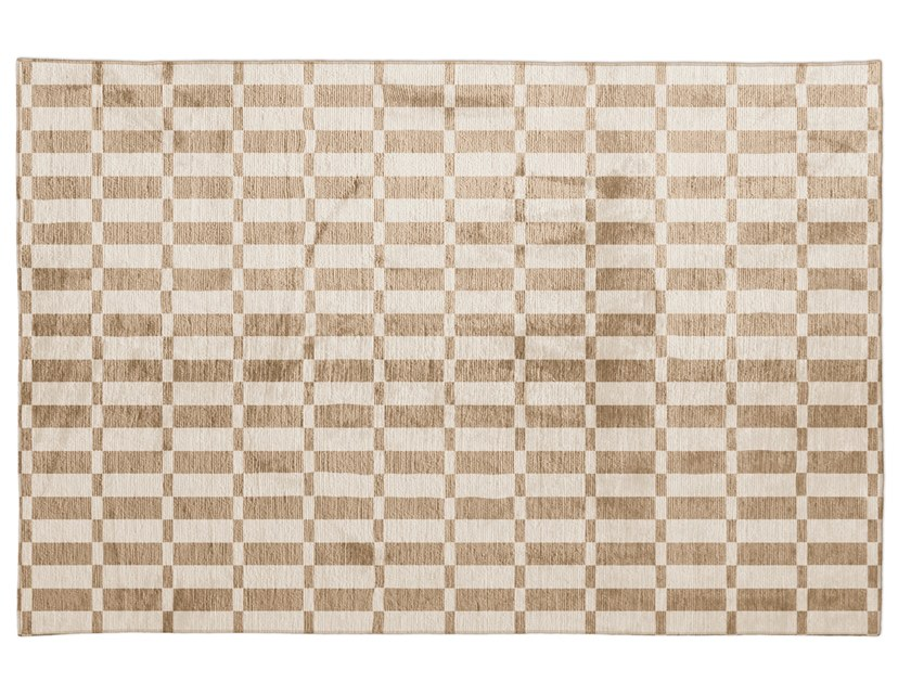 Silk rug with geometric shapes OPTICAL by GIORGETTI