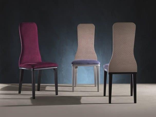 High-back fabric chair OPTICAL SKIN | Chair by Carpanelli