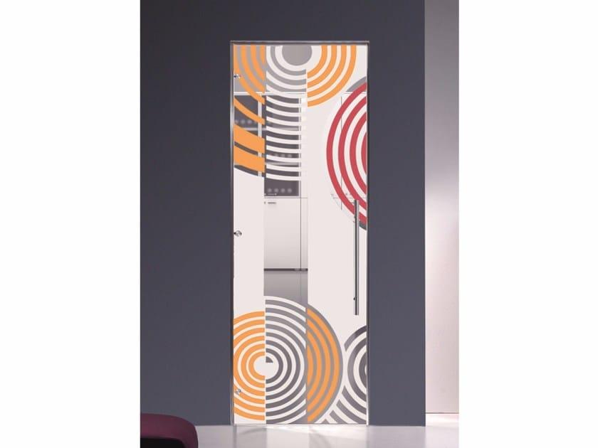 Hinged decorated glass door OPTIKA by Casali