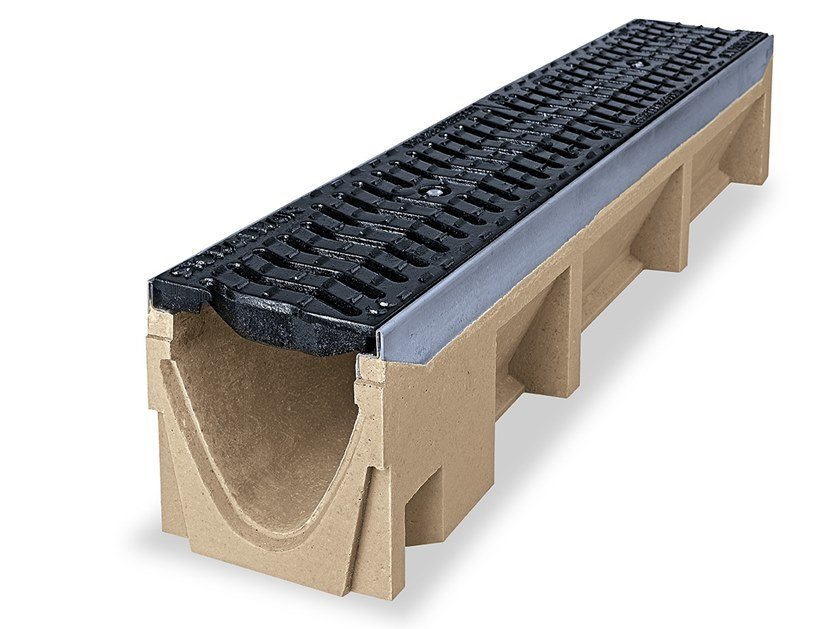 Concrete Drainage channel and part OPTIMA drainage channel by Pircher