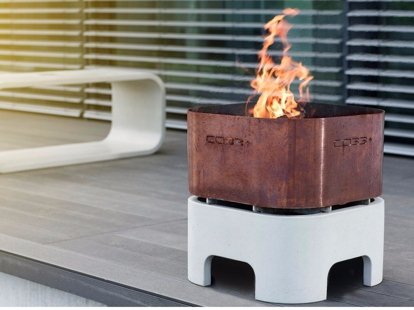 Concrete fire bowl OPUS IGNIS by CO33