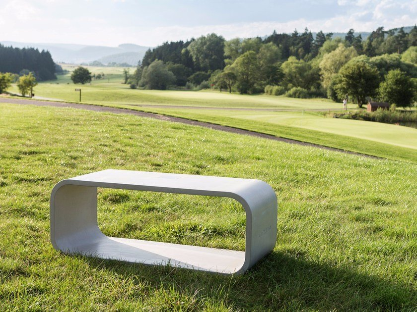 Concrete bench OPUS PRIMO by CO33