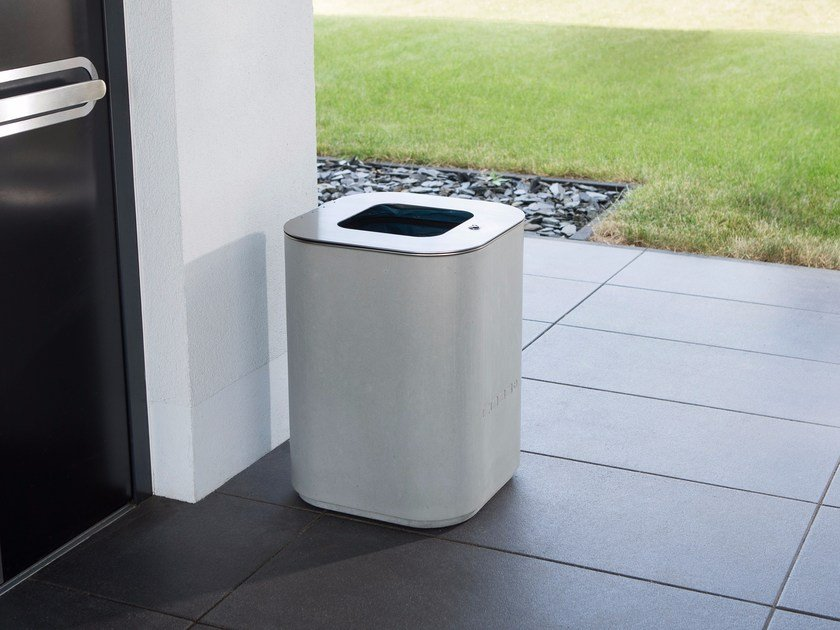 Concrete litter bin OPUS PURUS | Concrete litter bin by CO33