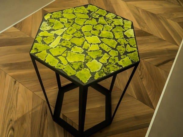Tavolino basso da caffè da giardino in ferro in stile moderno OPUS TABLE | Tavolino by Acquario Due