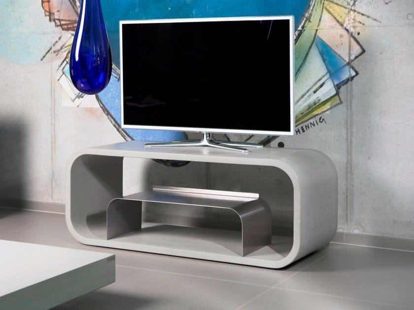 Concrete TV cabinet OPUS VIDERO by CO33