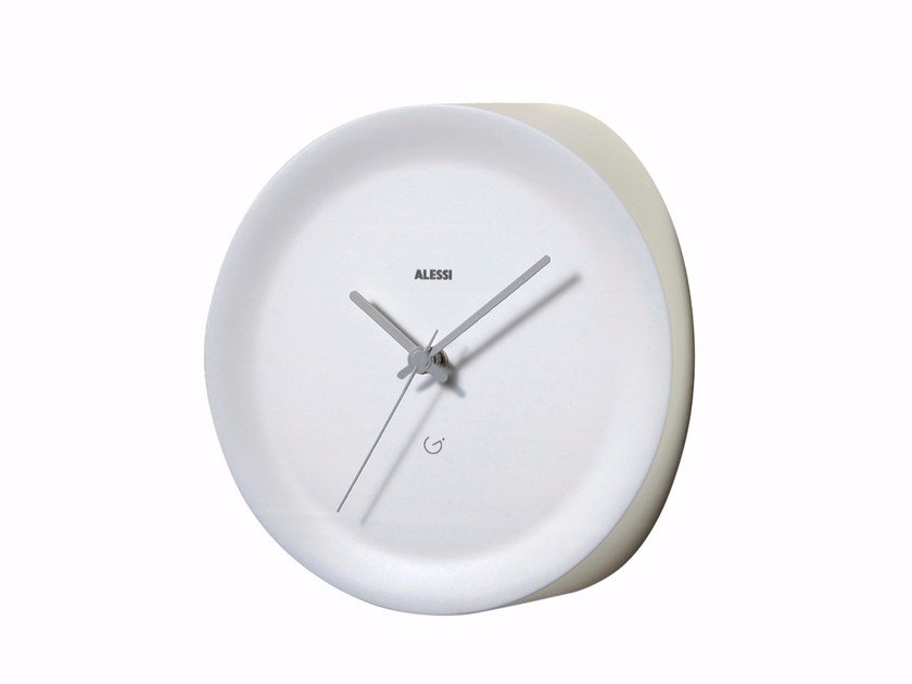 Wall-mounted thermoplastic resin clock ORA IN by Alessi