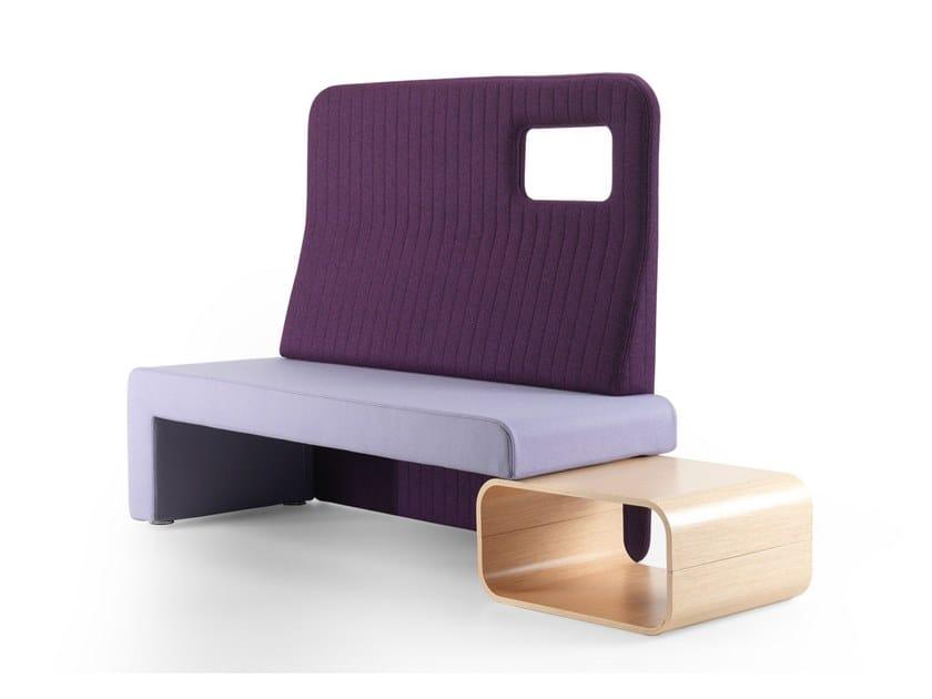 Panca in lana con schienale ORACLE | Panca by True Design