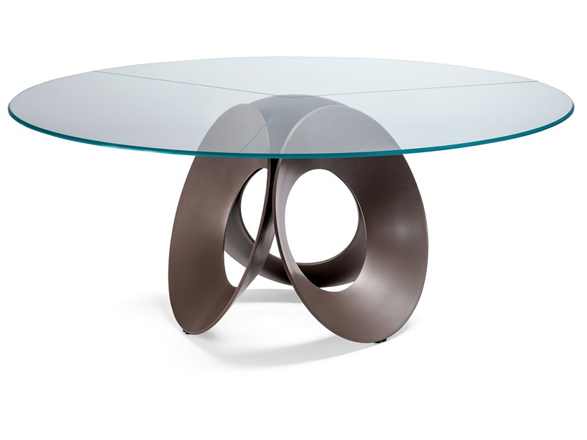 Round glass table ORACLE | Glass table by Arketipo