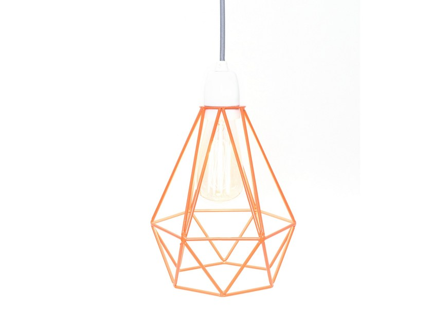 Metal pendant lamp table lamp orange cage grey fabric wire diamond metal pendant lamp table lamp orange cage grey fabric wire by filamentstyle mozeypictures Image collections