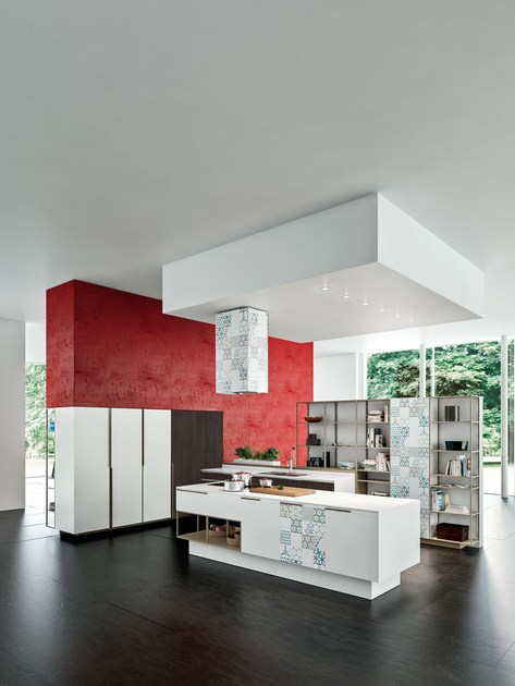 ORANGE EVOLUTION | Kitchen with island SISTEMA Collection By ...