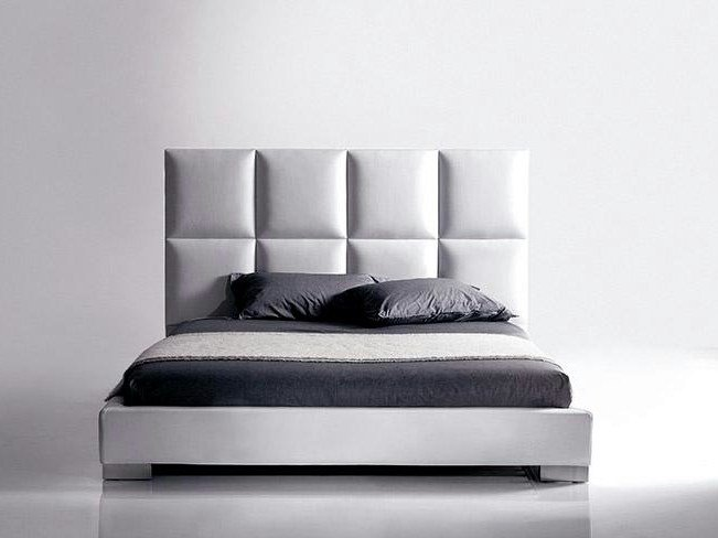 Bed with upholstered headboard ORAZIO   Bed with upholstered headboard by Marac