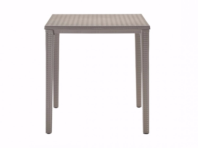 Stackable square plastic garden table ORAZIO | Square table by SCAB DESIGN