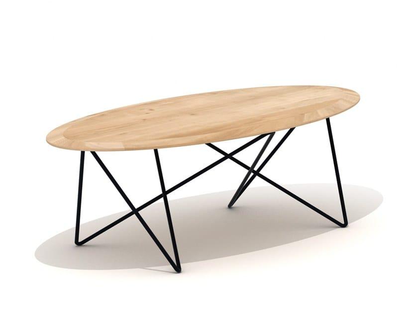 Oval oak coffee table ORB by Ethnicraft