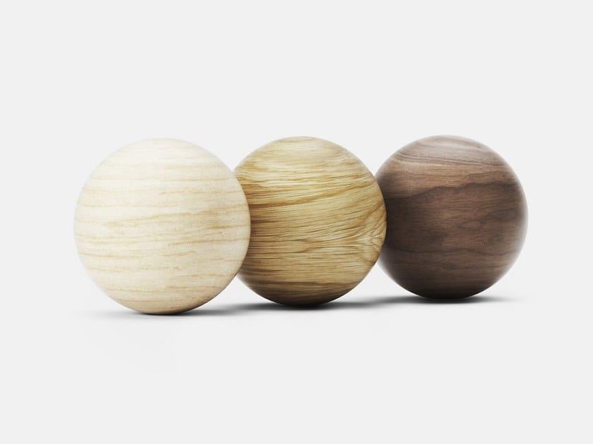 Levitating wood sphere ORB by LOOMA