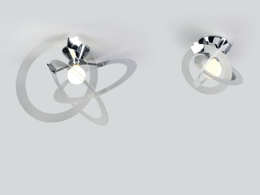 Indirect light glass ceiling lamp ORBIT | Ceiling lamp by Cattaneo
