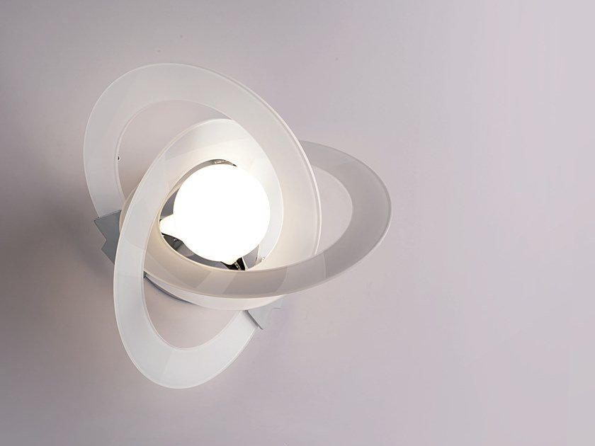 Indirect light glass wall light ORBIT   Wall light by Cattaneo