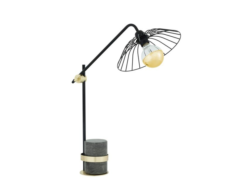 Adjustable with swing arm metal table lamp ORBITA by Flam & Luce