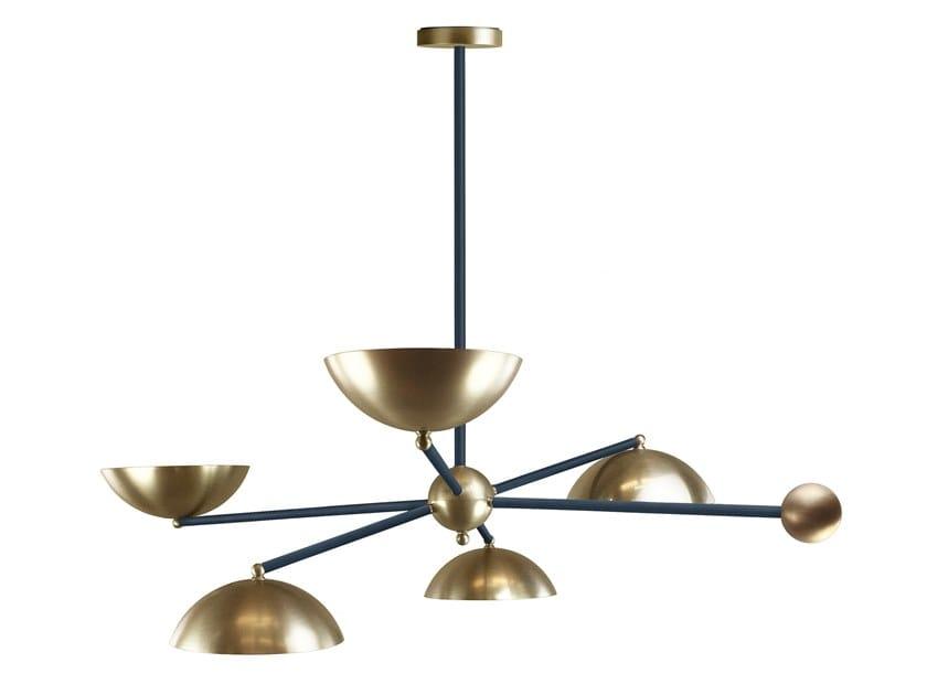 Lampada a sospensione fatta a mano in metallo ORBITA | Lampada a sospensione by Abrissi