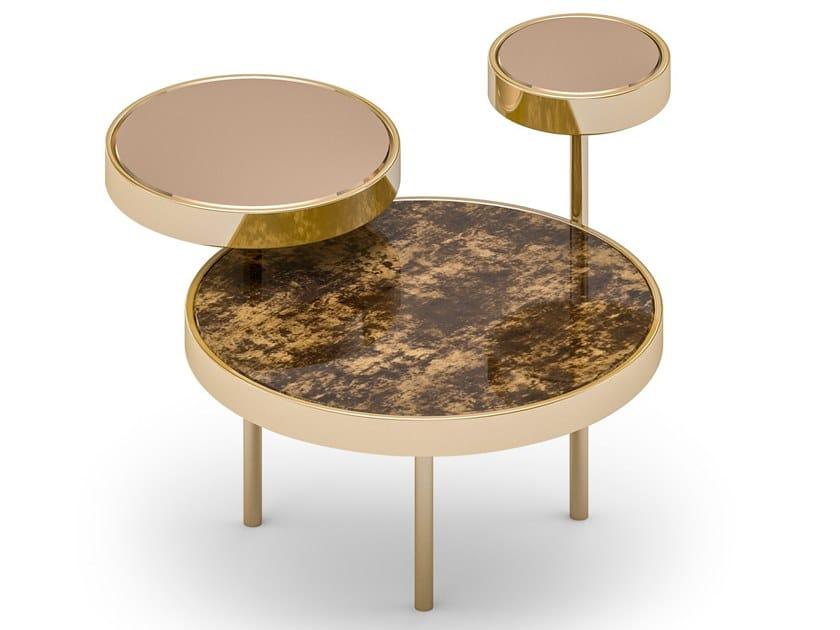Tavolino basso rotondo da salotto ORBITAL by Sicis