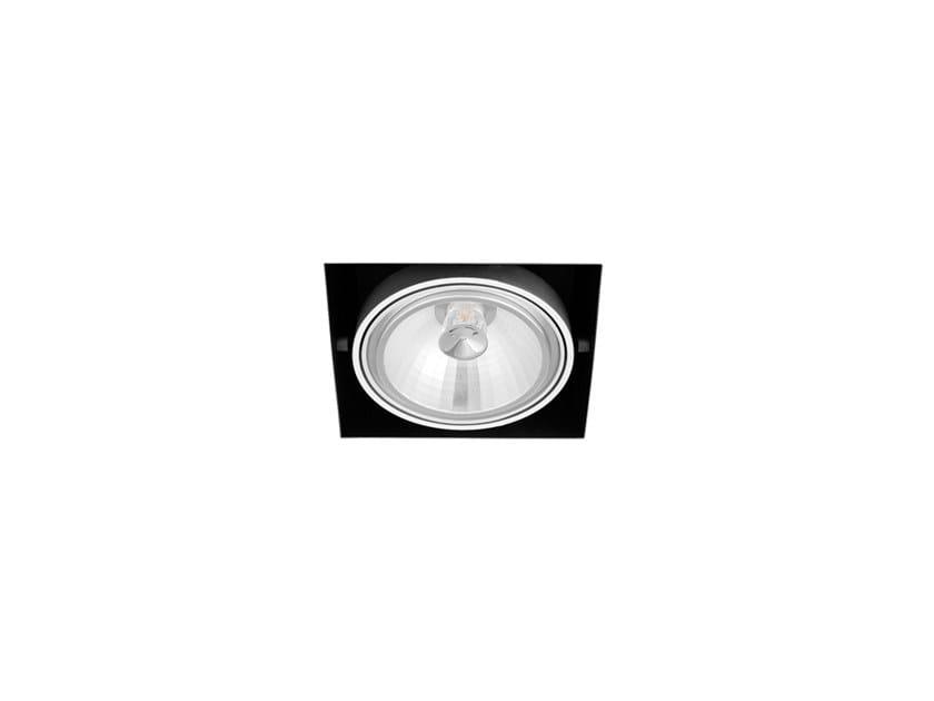 Faretto a LED in alluminio da incasso ORBITAL TRIMLESS 1 QR-111 by Arkoslight