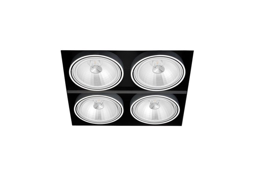 Faretto a LED in alluminio da incasso ORBITAL TRIMLESS 4 QR-111 by Arkoslight