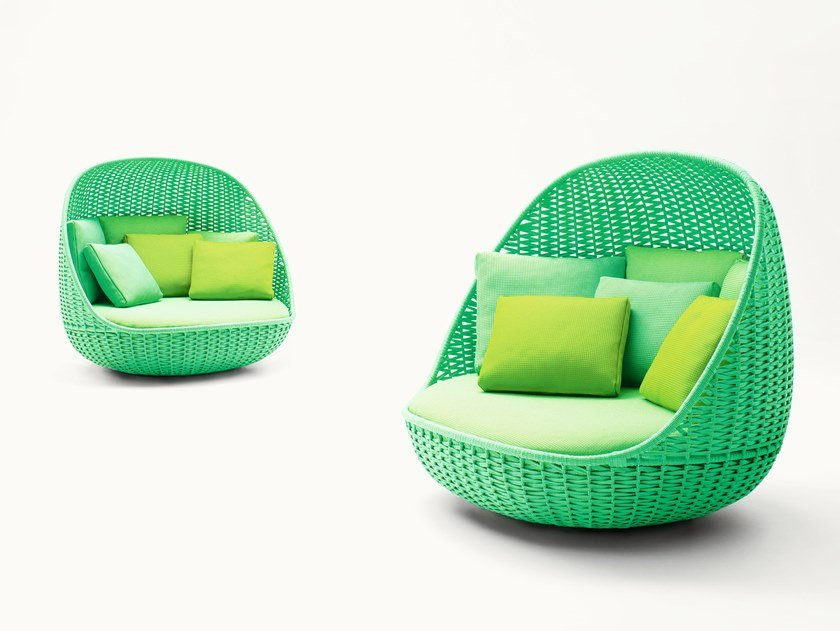 Round rope garden bed ORBITRY by paola lenti