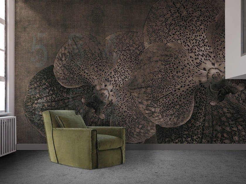 Vinyl or fyber glass wallpaper ORCHID CONCRETE by N.O.W. Edizioni