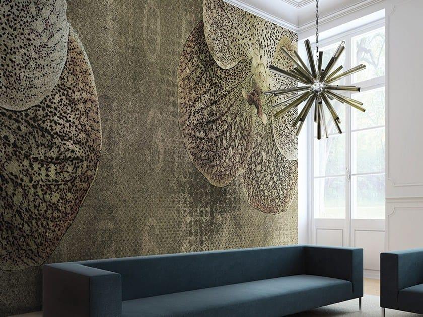 Vinyl or fyber glass wallpaper ORCHID VELVET by N.O.W. Edizioni