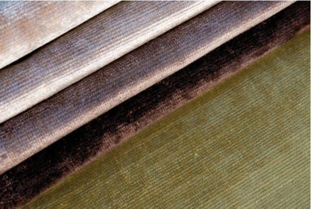 Washable velvet fabric ORCHIDEA by FRIGERIO