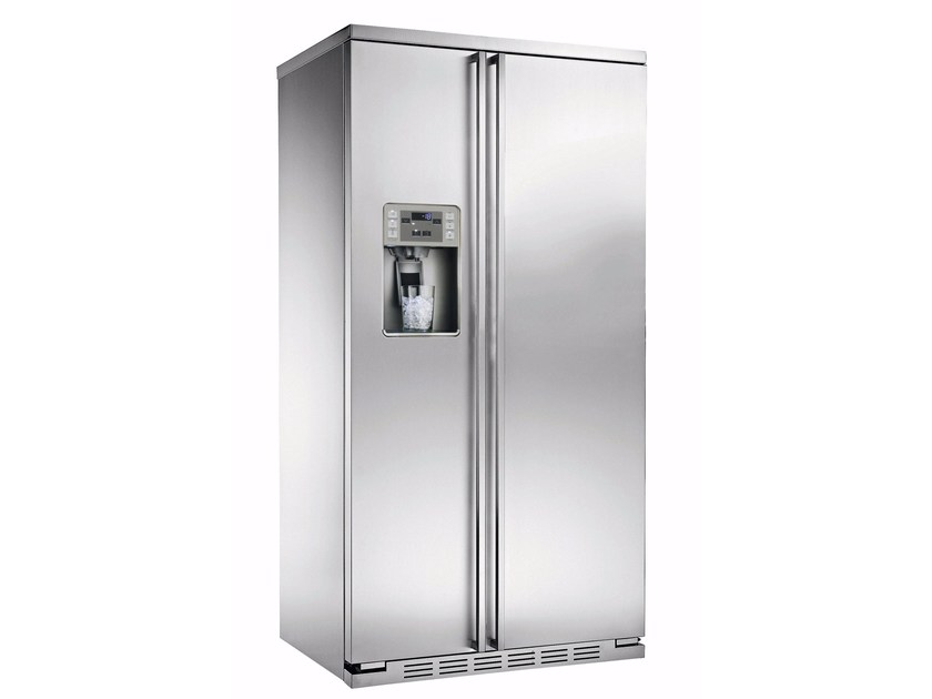 Amerikanischer Kühlschrank Edelstahl : Amerikanischer kühlschrank aus edelstahl im modernen stil mit