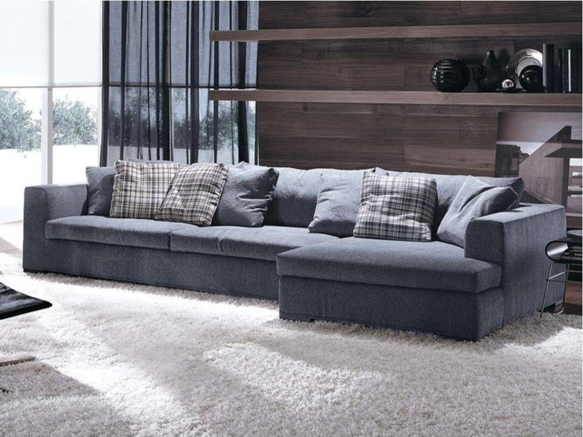 Contemporary style sectional upholstered fabric sofa with removable cover ORESTE | Sectional sofa by Frigerio Salotti