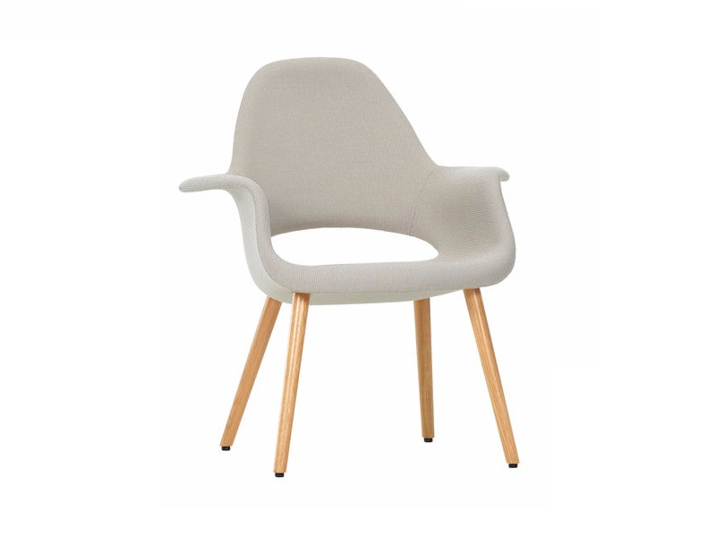 Upholstered fabric chair with armrests ORGANIC CHAIR by Vitra
