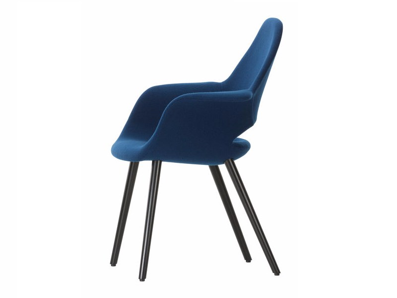 Fabric chair with armrests ORGANIC CONFERENCE by Vitra