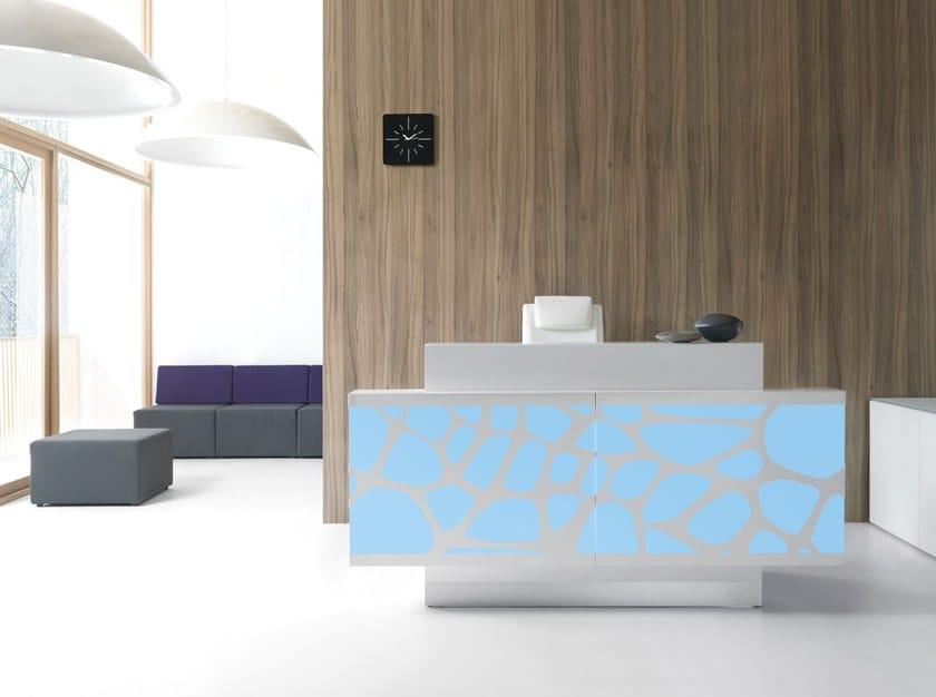 Banco reception per ufficio con illuminazione organic mdd