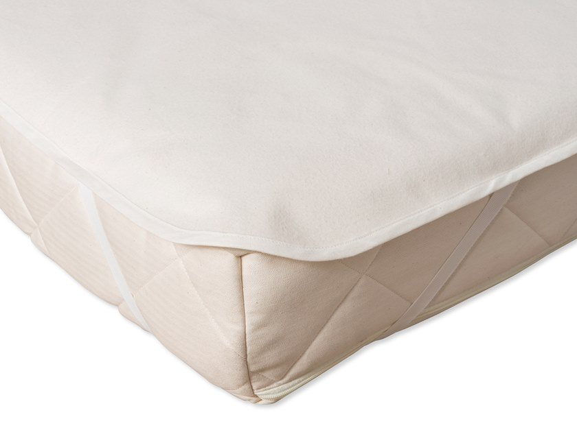 Washable breathable cotton mattress cover ORGANIC WATERPROOF by Naturalmat