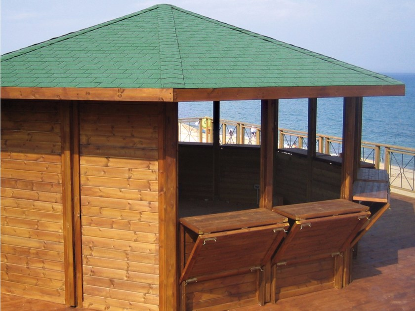 Folding wooden gazebo ORIENTE by ALCE