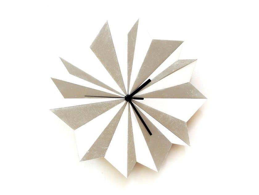 Orologio in compensato da parete ORIGAMI by ardeola