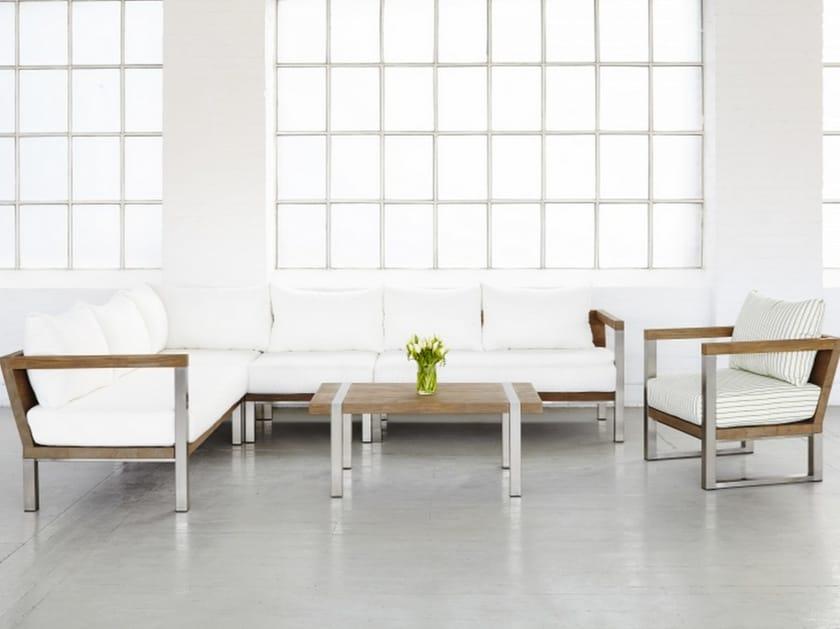 Modular teak sofa ORIGIN   Modular sofa by 7OCEANS DESIGNS