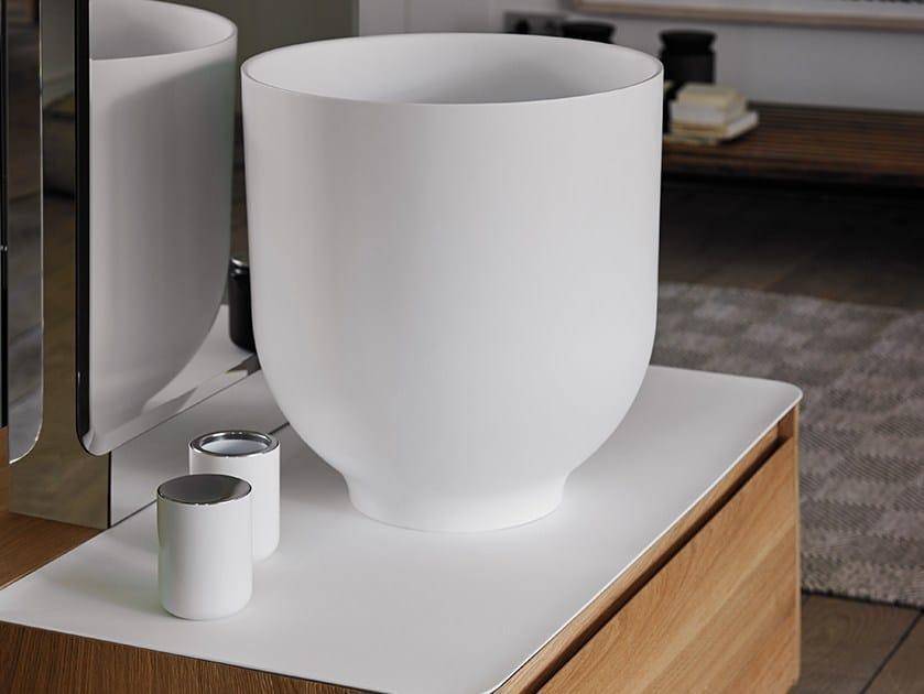 Lavabo sobre encimera redondo de Ceramilux® ORIGIN | Lavabo by INBANI