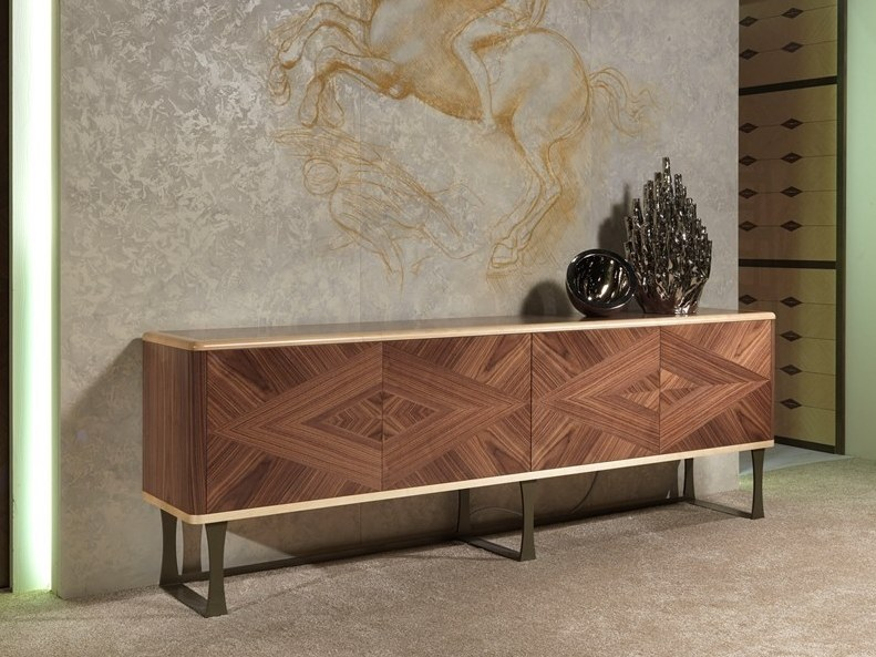 Wooden sideboard with doors with drawers ORIGINAL LIFESTYLE | Sideboard by Carpanelli Contemporary