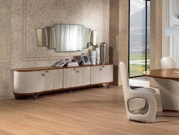 Leather sideboard with doors ORIGINAL LIFESTYLE | Sideboard with doors by Carpanelli Contemporary