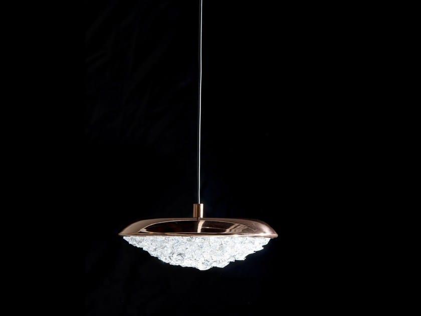LED crystal pendant lamp ORIGO | Crystal chandelier by Manooi