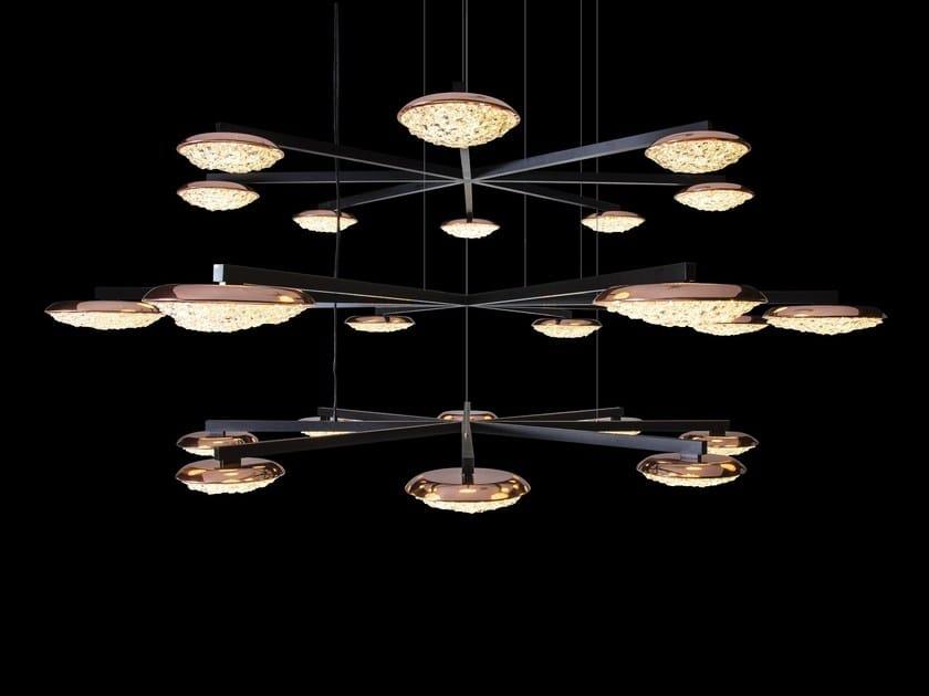 LED crystal pendant lamp ORIGO STAR | Crystal chandelier by Manooi