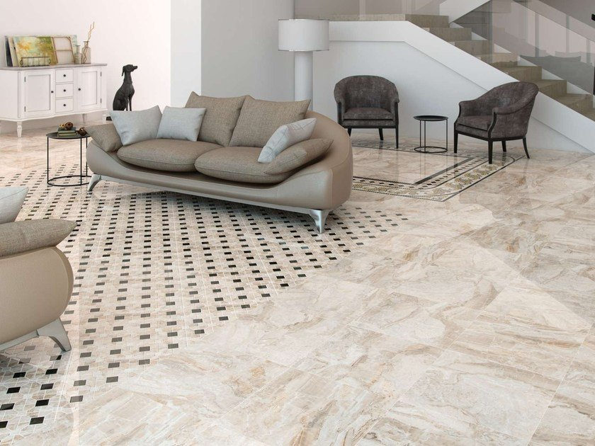 Porcelain stoneware wall tiles / flooring ORIO by Museum
