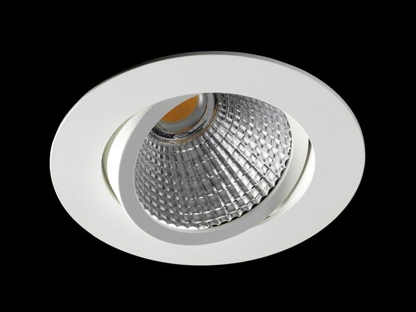 Faretto a LED orientabile in alluminio verniciato a polvere da incasso ORION FLEX by LUNOO