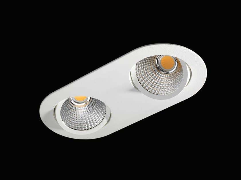 Alluminio Orion Flat A Lunoo Da Ii Orientabile Faretto Flex Verniciato Polvere In Led Incasso 76gfby